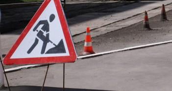 Ремонт дороги в Сумах