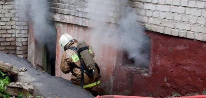 пожар в подвале