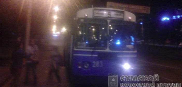 троллейбус поломался