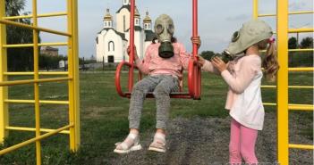 конотоп-дети-противогаз