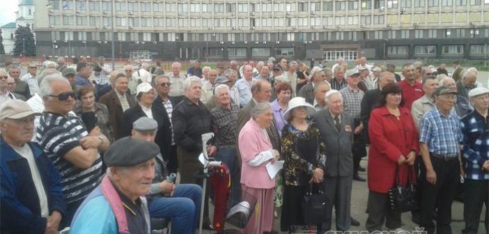 Митинг ветеранов