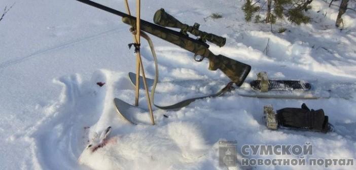 охота-зимой