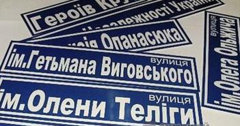 переименование улиц