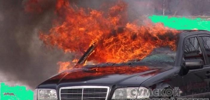 пожар-мерседес