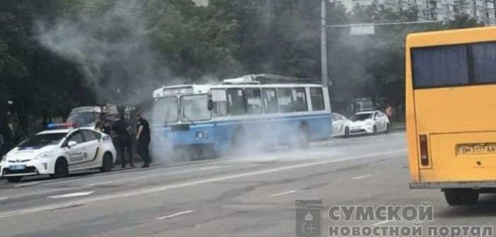 возгорание троллейбуса